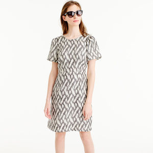LIKE NEW - J.Crew Flutter-Sleeve Dress in Ikat